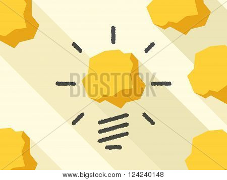 Drawn light bulb and crumpled paper. Invention thinking insight imagination creativity innovation and inspiration concept. EPS 10 vector illustration transparency used