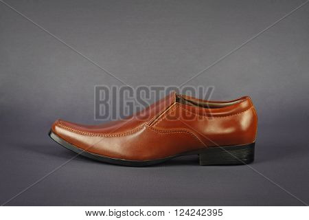 Men's Formal Shoes Isolated on Gray Background