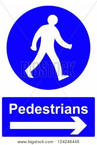 APed estrians stay to the right sign