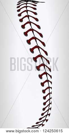 Baseball laces, vector art illustration background baseball.