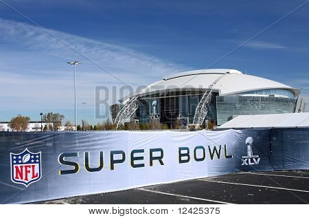 Cowboys Stadium Super Bowl Sign