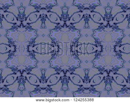 Abstract geometric seamless background. Extensive ornaments, ellipses pattern in purple shades with pale green, gray and black elements.