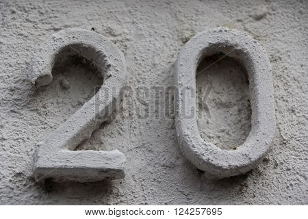 House number 20 in the city of Saint Cloud, France