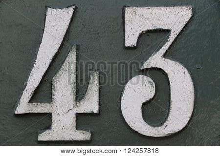House number 43 in the city of Saint Cloud, France