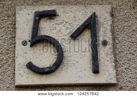 House number 51 in the city of Saint Cloud, France