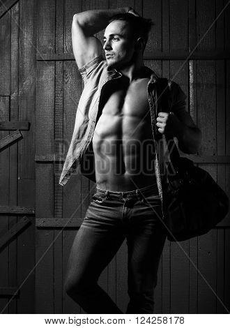 Stylish Guy With Bag
