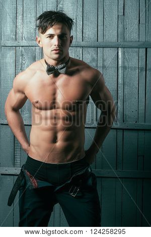Sexy Man In Bow Tie