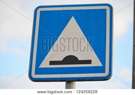 traffic sign cross retarder South Bohemia Czech Republic