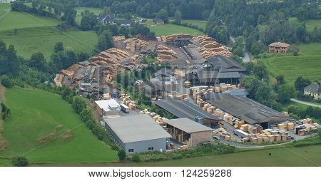 wood processing company in the village of Sankt Sebastian Austria