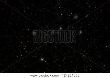 Cancer Constellation with constellation lines  Night sky