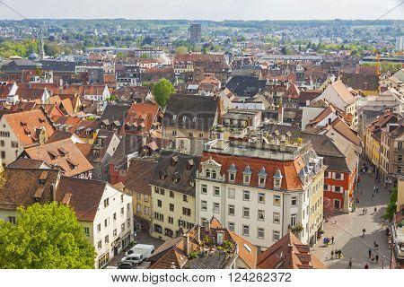 Aerial View Of Konstanz City (germany) And Town Of Kreuzlingen (switzerland)