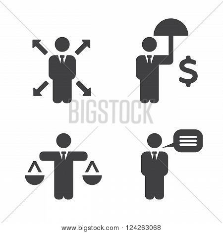 Business Policies Icons.. 10 eps vector illustration