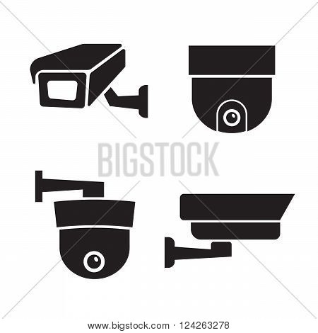 Security surveillance camera CCTV icons set. 10 eps vector illustration