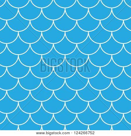 Seamless fish pattern. 10 eps vector illustration