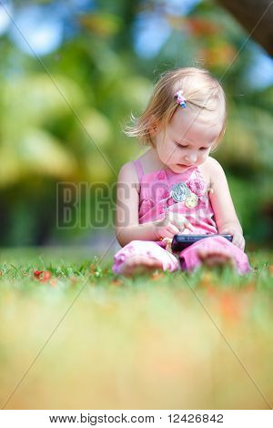Toddler Girl At Summer
