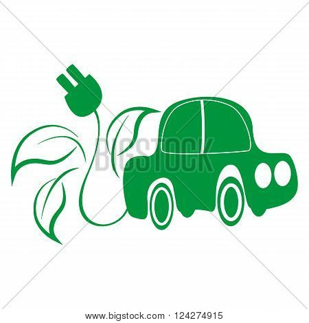 Green car image and the power cord back