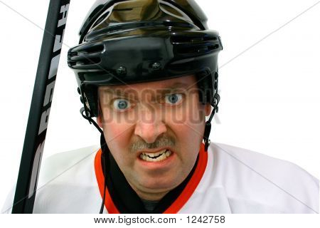 Hockey Player In The Penalty Box