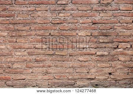 red brick - stone wall surface texture background
