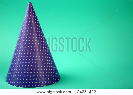 Dotted Birthday hat on light blue background