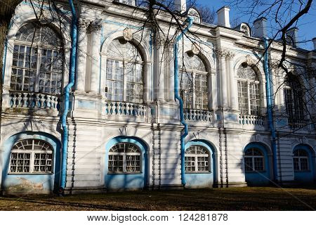 Smolny Monastery at sunny day in St.Petersburg Russia.