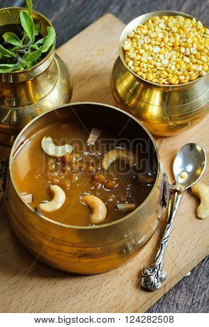 Lentil Kheer / Pradaman parippu payasam - Lentil dessert prepared during South Indian festivals