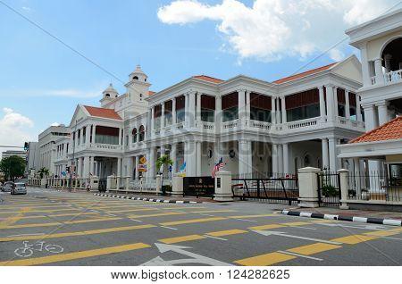 George Town/Malaysia - September 2012: Mahkamah Tinggi in George Town Penang Malaysia