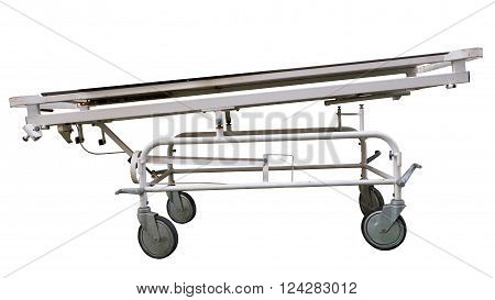 Isolated Vintage Hospital Stretcher On White Background