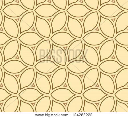 Seamless vector colored ornament. Modern geometric pattern with repeating elements