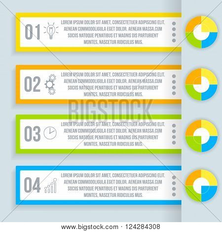 Infographics for your busines. Illustration Vector eps 10