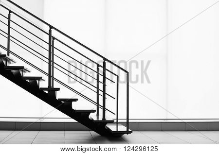 Modern stairs in office