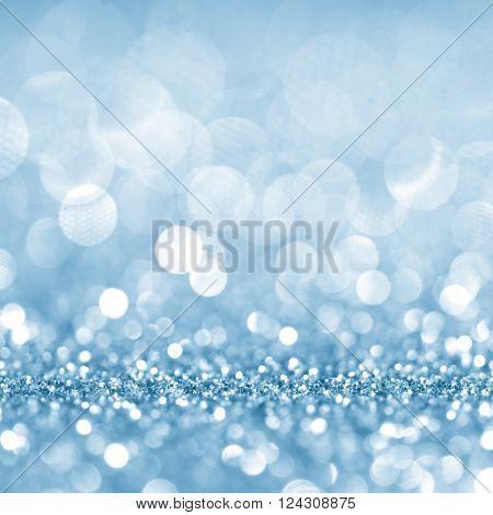 Defocused abstract blue lights background . bokeh lights. concept.