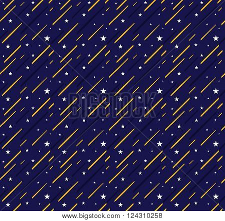 star and night sky seamless pattern. seamless star and night sky background. star and night sky repeatable background. star and night sky textile. vector stock.