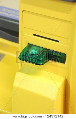 ATM Card Insert slot on a teller machine in Thailand
