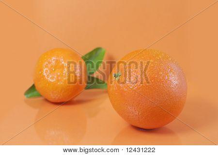 Orange and clementine.
