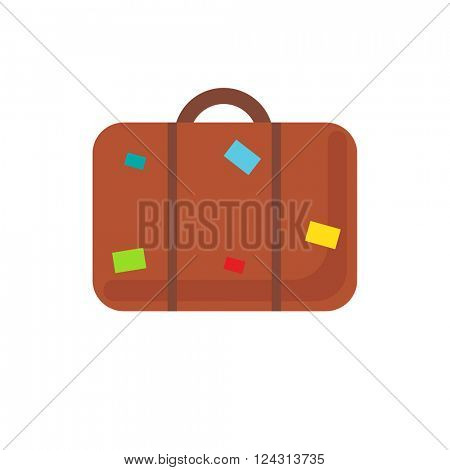 Suitcase icon. Abstract vector luggage icon. Retro suitcase sign