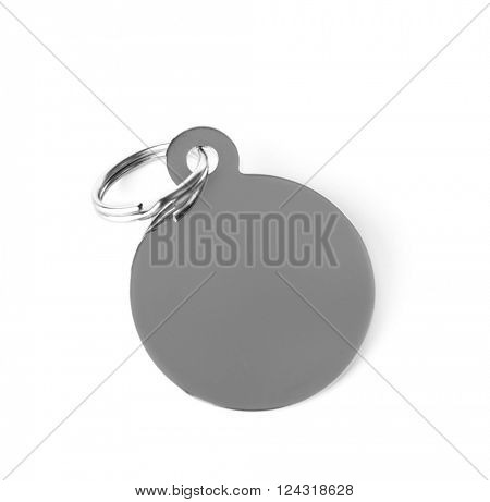 Round pet charm, isolated on white