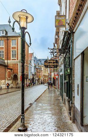 Restaurants And Brick Houses In Leuven Belgium
