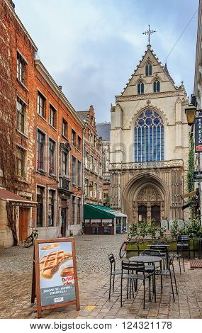 Restaurants And Brick Houses In Antwerp