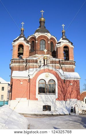 image of one church in the winter daytime