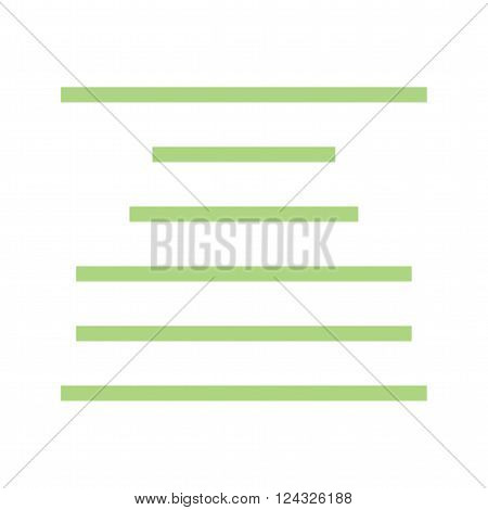 Center, align, text icon vector image.Can also be used for text editing. Suitable for mobile apps, web apps and print media.