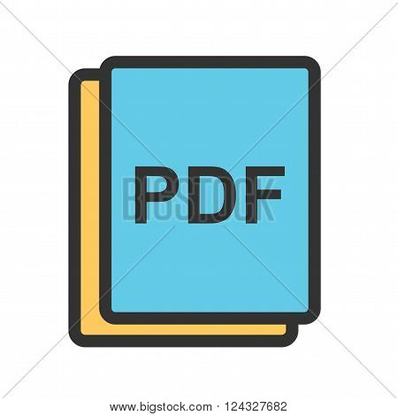PDF, image, art icon vector image. Can also be used for picture editing. Suitable for use on web apps, mobile apps and print media.