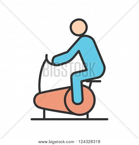Cycling, cycle, work icon vector image. Can also be used for humans. Suitable for web apps, mobile apps and print media.