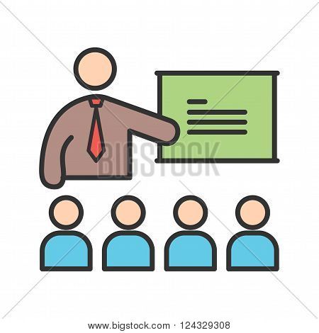 College, classroom, lecture icon vector image. Can also be used for humans. Suitable for use on web apps, mobile apps and print media.