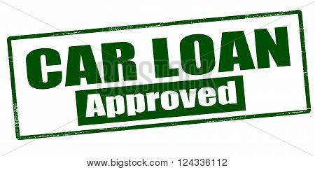 Rubber stamp with text car loan approved inside vector illustration`