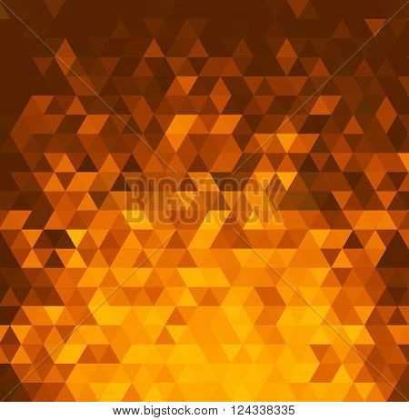Vector orange Abstract color mosaic background with triangles