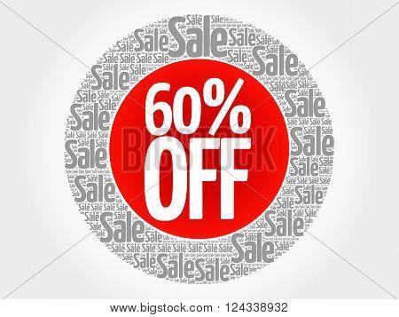 60% Off Stamp Words Cloud