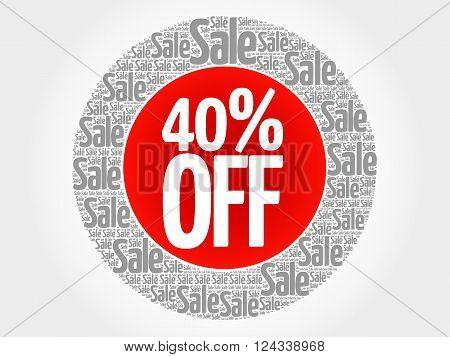 40% Off Stamp Words Cloud