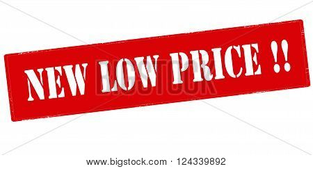 Rubber stamp with text new low price inside vector illustration`