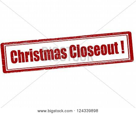 Rubber stamp with text Christmas closeout inside vector illustration`