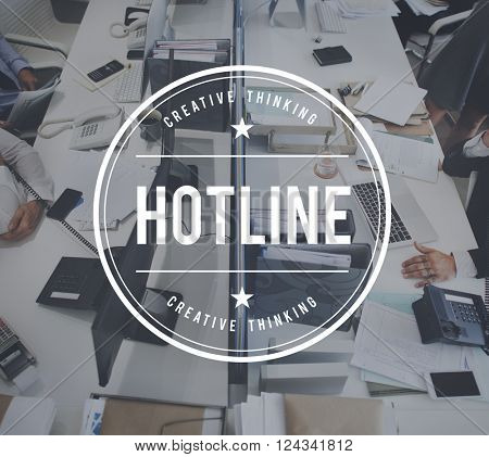 Hotline Customer Service Guide Helpline Concept